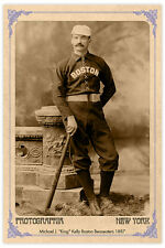 "Michael ""King"" Kelly Boston Beaneaters 1887 Vintage Photograph A++ RP"