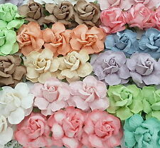 25 Pastel Paper Flowers Wedding Favour Headpiece Centerpiece Bouquet Art R40-426