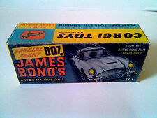 Boîte copie repro Corgi Toys 261 james bond aston martin DB5 ( reproduction box