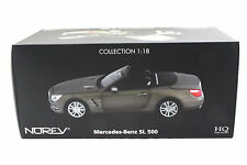 NOREV 2012 MERCEDES BENZ SL 500 DARK GREY MATT 1/18 DIECAST CAR 183590