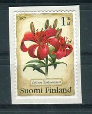 Finlandia /Finland 2007 Fiori giglio  autoadesivo MNH