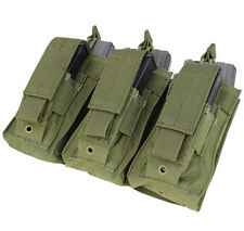 Condor MA55 Triple Kangaroo 5.56 or .223 Rifle & Pistol Mag Pouch OD Green