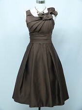 Cherlone Plus Size Brown Prom Ball Evening Formal Bridesmaid Wedding Dress 18-20