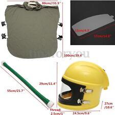 Safe Sandblast Helmet Sand Blast Hood Protector+Cloak Sand Len For Sandblasting