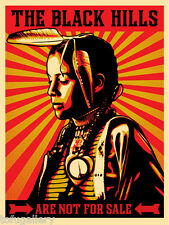 Rare 2012 SHEPARD FAIREY Obey The Black Hills Are Not For Sale Street Art Print