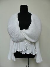 DICE KAYEK Amazing & Unique White Wide Sleeves Top