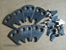 lot of (7) 44-296 ridge forming discs + holders for blind stitch sewing machine