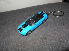2007 2008 SHELBY MUSTANG GT500 CONVERTIBLE DIECAST MODEL CAR KEYCHAIN BLUE BLACK