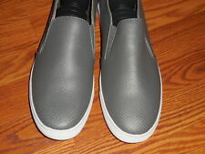 Public Opinion Dante Grey Perforated Slip On Shoes Mens Size 13 M