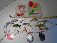 Fishing Lures Mixed Lot Some Vintage Storm Rapela Finland Poppers Divers Spinner