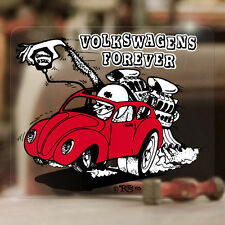 Ed Roth Volkswagen forever sticker decal vw beetle bus aircooled 3.75""