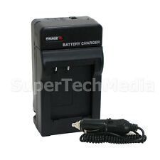 Battery Charger w/ Car Adapter for Fuji NP-50 NP50 F Series F100fd F200 F300 EXR