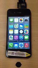 GENUINE OEM schermo LCD tasto Home Ricambio per ORIGINALE iPhone 4S Nero