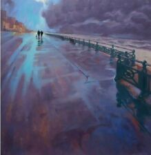 "NEW ORIGINAL MARK HARRISON  ""It's nice to get out"" Brighton sussex OIL PAINTING"