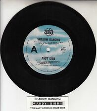 """ANDY GIBB  Shadow Dancing  BEE GEES 7"""" 45 rpm record + juke box title strip"""