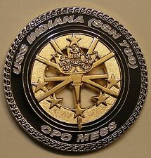 USS Indiana (SSN-789) Chief's Mess Navy Challenge Coin