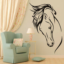 Horse Head Vinyl Wall Decal Animal Removable Wall Sticker Room Decor Art Mural /