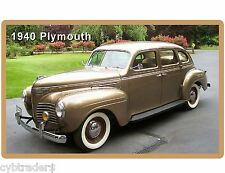 1940 Plymouth Auto Refrigerator / Tool Box Magnet Man Cave Gift Item