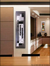 Large Wall Sculpture Silver, Black, Modern Metal Wall Art -Smoke Stack Jon Allen
