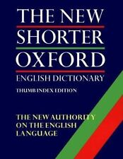 The New Shorter Oxford English Dictionary (2 Vol. Set; Thumb Indexed E-ExLibrary