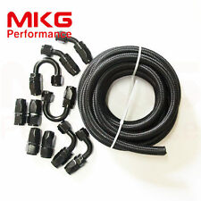 AN10 AN-10 3M Stainless Steel Nylon Braided Oil Fuel Line Hose End Fitting Kit