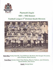 PLYMOUTH ARGYLE 1951-1952 RARE ORIG HAND SIGNED TEAM GROUP X 9 SIGNATURES