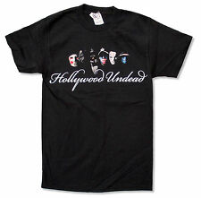 "HOLLYWOOD UNDEAD ""SCRIPT FACE"" BLACK T-SHIRT NEW OFFICIAL ADULT SMALL S"