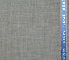 Light Grey Super 150's Wool Cashmere Suiting Fabric - Length = 3.50 Metres