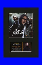 Alan Rickman Severus Snape Quality signed Mounted Pre-Print Harry Potter