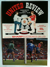MINT 1988/89 Manchester United v Newcastle United Mercantile Centenary Trophy
