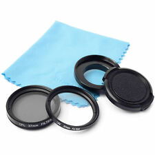 37mm UV CPL Filter Set Adapter +UV Filter + Lens Cap For Gopro Hero 3 3+ 4 LF368
