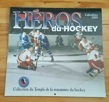 héros du hockey 2005 calendrier -collection du temple de la renommée du hockey
