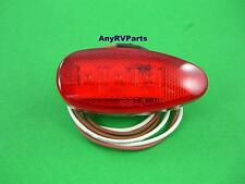 "Red 3 "" Teardrop 3 LED RV Motorhome Trailer Truck Clearance Marker Light J315R"