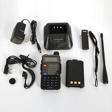 Baofeng Black UV-5R+ Plus Dual-Band Ham Two-Way Radio Transceiver