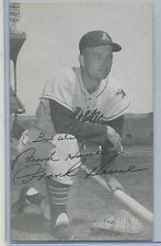 1958 J D Mc Carthy Baseball Postcard FRANK HOUSE Kansas City Athletics Autograph