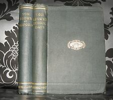 Tom Brown's School Days & Tom Brown At Oxford- 1890 & 1899 HB,  Macmillan And Co