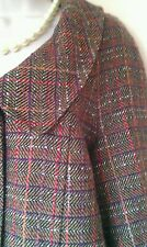 Ladies PER UNA wool blend jacket in good condition,herringbone,checked,lovely!