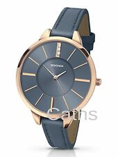 Sekonda Ladies Editions Watch Stone Set Midnight Blue Dial & Leather Strap 2248