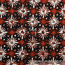 BonEful Fabric FQ Cotton VTG INDONESIAN African Ethnic BATIK Flower Hand Dye Art