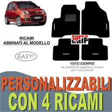 TAPPETINI AUTO SU MISURA PER FIAT PANDA 2012  MOQUETTE E GOMMA + 4 RICAMI EASY