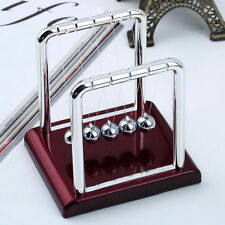 Newtons Cradle Balance Balls Physics Science Pendulum Desk Top Toy Gift Game