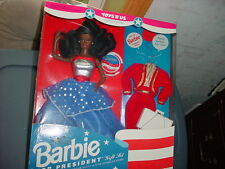 BARBIE FOR PRESIDENT AFRICAN AMERICAN 1991 #3940 MIP FREE USA SHIPPING
