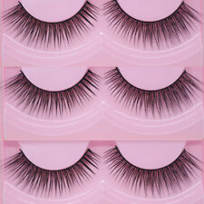 2Pairs Natural Sparse Cross Eye Lashes Extension Makeup Long False Eyelashes