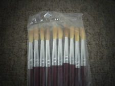 10 X Artist Faux Squirrel Round Bristle Paint Brushes Small, Size 6, Art & Craft