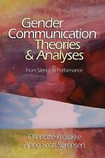 Gender Communication Theories and Analyses: From Silence to Performanc-ExLibrary
