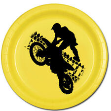 Extreme Sports Party Supplies MOTO CROSS MOTORCYCLE DESSERT CAKE PLATES