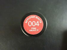 Revlon Super Lustrous Matte Lipstick - PINK ABOUT IT #004 - Sealed / Brand New