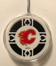 Calgary Flames Poker Chip Christmas Tree Ornament Holiday NHL Hockey Canada