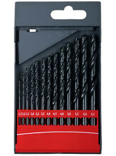 Set of 13 professionals metal drills bits HSS DIN 338 box case kit lot tool