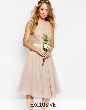 Maya Embellished Top Midi Skater Dress with Tulle Skirt UK 12/EU 40/US 8